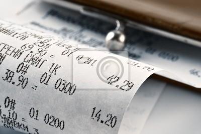 Geldeingang, die das geld ausgegeben fototapete • fototapeten ...