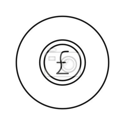 Geldschild Münze Pfund Fototapete Fototapeten Verdienen Pfund