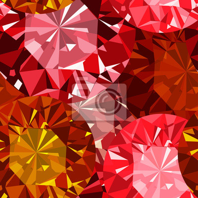 Gem nahtlose Muster. Rubin nahtlose Muster Hintergrund.