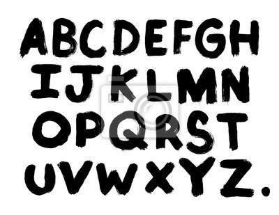 Gemaltes Alphabet