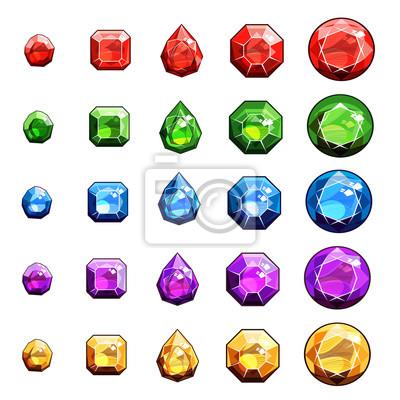 Gems Und Diamanten Icons Set