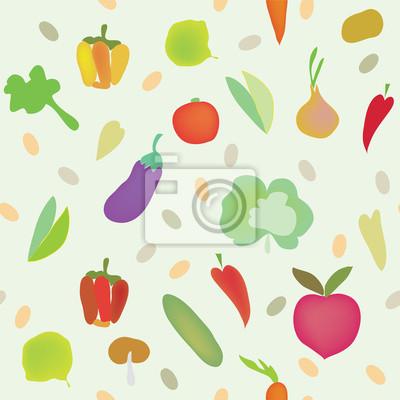 Gemüse nahtlose Muster mit Gemüse