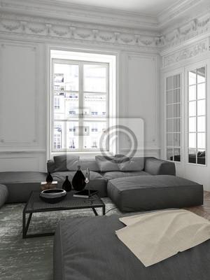 Gemutliche Wohnung Wohnzimmer Innenecke Fototapete Fototapeten