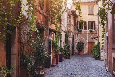Fototapete Gemütlichen Straße in Rom, Italien