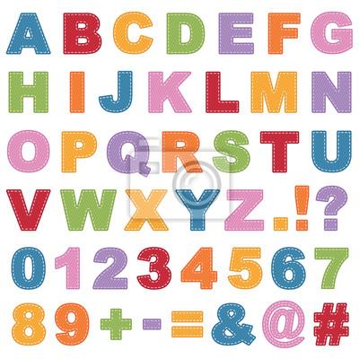 genäht Alphabet