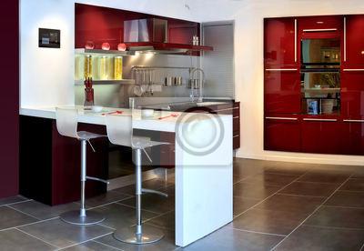 Genähte panorama bar-küche fototapete • fototapeten Ergonomie ...
