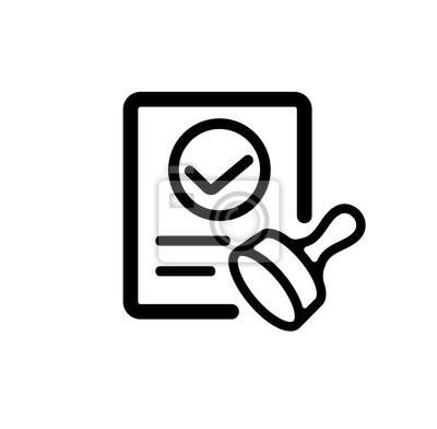 Genehmigung / zustimmung / qualifiziertes symbol fototapete ...