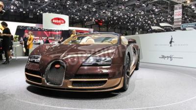 Fototapete Genf, Schweiz - 2. März 2014: 2014 Bugatti Veyron Rembrandt Bugatti auf dem 84. Internationalen Genfer Autosalon vorgestellt