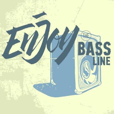 Genießen Sie die Basslinie. Lautsprecher Verstärker.