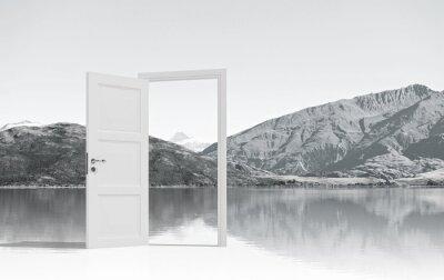 Fototapete Geöffnete Tür zu irgendwo