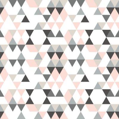 Geometrische abstrakte muster mit dreiecken in gedämpften retro ...