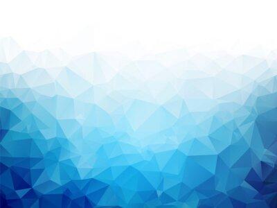 Fototapete Geometrische blaue Eis Textur Hintergrund