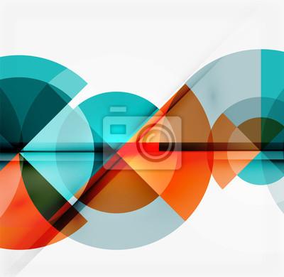 Fototapete Geometrische Design abstrakten Hintergrund - Kreise