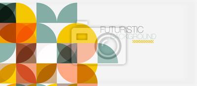 Fototapete Geometrische Dreieck- und Kreisform, breiter abstrakter Hintergrund