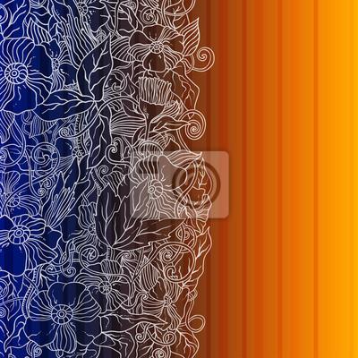 Geometrische floral Retro Hintergrund mit Platz für Ihren Text.