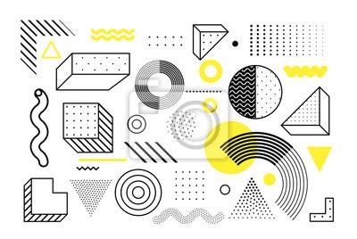 Fototapete Geometrische Formen des universellen Trends eingestellt