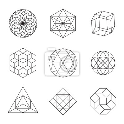 Fototapete Geometrische Formen Set