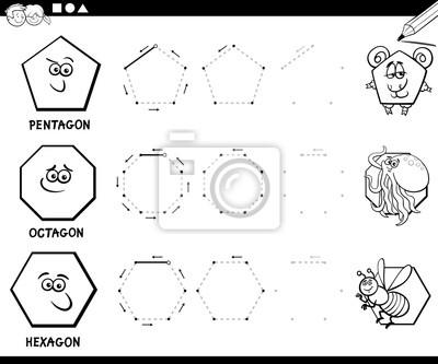 Geometrische formen zeichnen malvorlagen fototapete • fototapeten ...