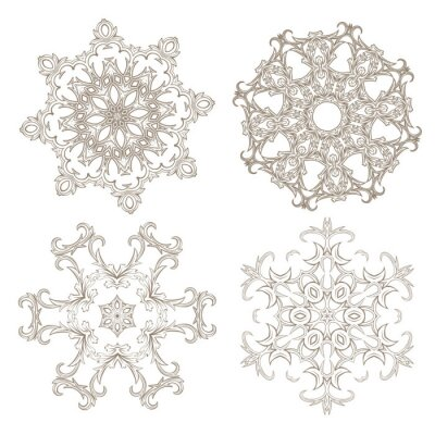 Fototapete Geometrische kreisförmigen Ornament gesetzt.