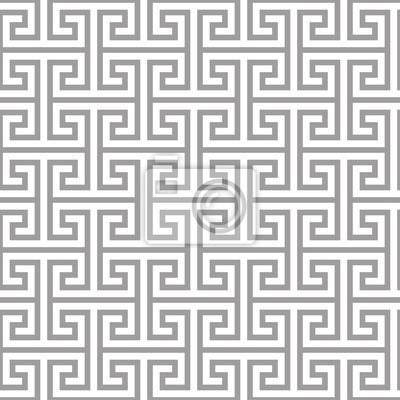 Geometrische nahtlose muster im asiatischen stil. lattice, puzzle ...