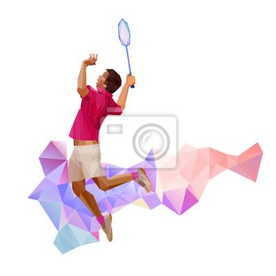 Geometrische polygonal professionellen Badmintonspieler