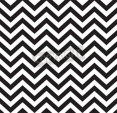 Fototapete Geometrische Zickzack nahtlose Muster Vektor-Illustration