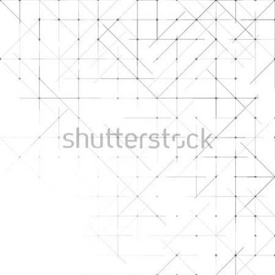 Fototapete Geometrischer einfacher minimalistischer Hintergrund. Dreiecke gepunktetes Muster. Vektor-Illustration