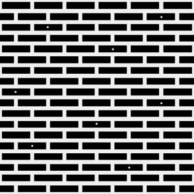 Fototapete Geometrisches einfaches schwarz-weißes minimalistisches Muster, Ziegelstein. Kann als Hintergrund, Hintergrund oder Textur verwendet werden.