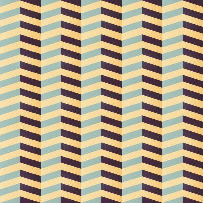 Geometrisches Nahtloses Chevronmuster In Retro Farben Fototapete