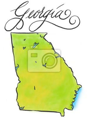 Georgia Karte