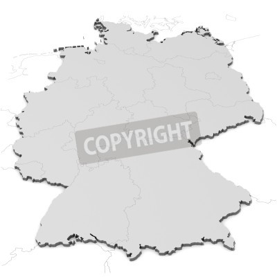 Fototapete: Germany map with states