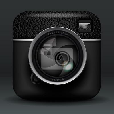 Gesamt schwarz Foto Kamera-Symbol, Vektor-Illustration eps10.