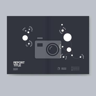 Geschäftsbericht deckblatt vorlage mit modernen material-design-stil ...