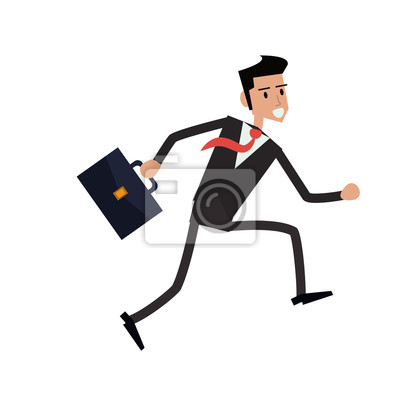Fototapete: Geschäftsmann koffer cartoon mann männlich avatar business anzug