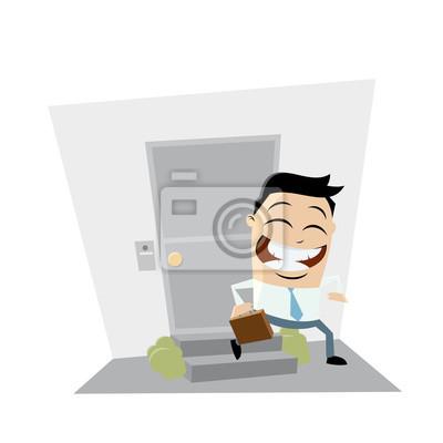 Geschäftsmann Verlassen Haus Clipart Fototapete Fototapeten Gehen