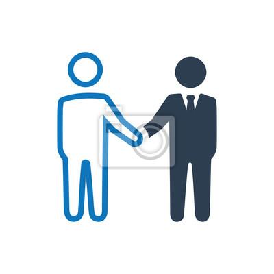 Geschäftsvereinbarung icon fototapete • fototapeten Vereinbarungen ...