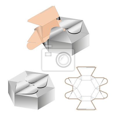 Geschenk Box Verpackung Vorlage Weiss Karton 10