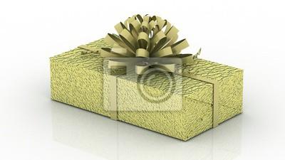 Geschenkbox Weihnachten.Fototapete Geschenkbox Mit Band Isoliert Auf Den Weißen Hintergrund Weihnachten