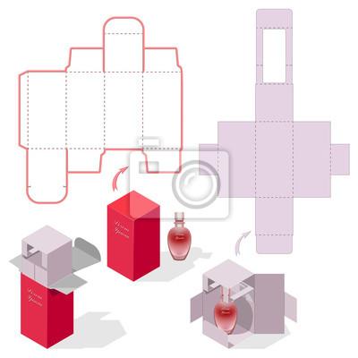 Geschenkbox verpackung vorlage. glasduft schutzkoffer design ...