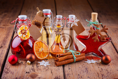 Fototapete: Geschenke aus der küche - selbstgemachte liköre