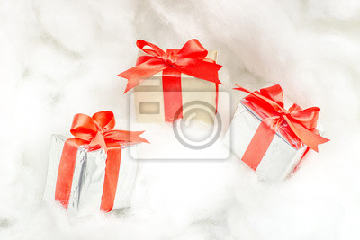 Geschenkbox Weihnachten.Fototapete Geschenkmix An Weihnachten Mit Platz Für Text Geschenkbox Zur