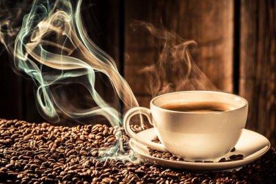 Fototapete Geschmack Kaffeetasse mit gerösteten Kernen