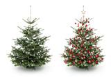 festlich geschm ckter weihnachtsbaum fototapete fototapeten strahlend weihnachtskugel. Black Bedroom Furniture Sets. Home Design Ideas