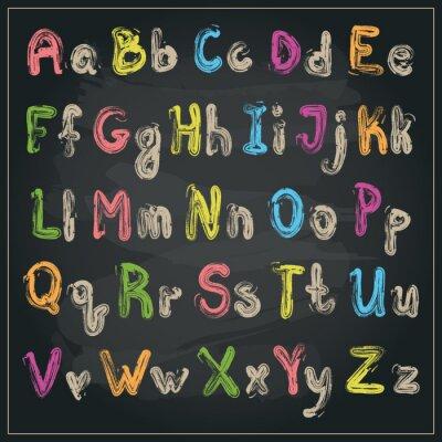 Geschrieben mit einem Pinsel-Alphabet