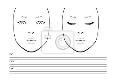 Vorlage Fur Makeup Hubsches Frauengesicht