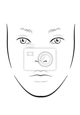 Gesicht Zum Schminken Makeup Face Charts