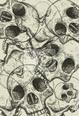 Gestapelte Schädel