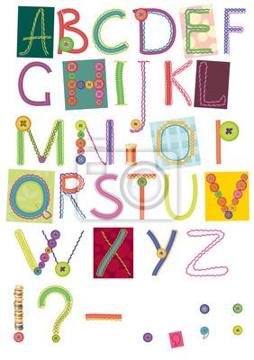 gestickten Buchstaben