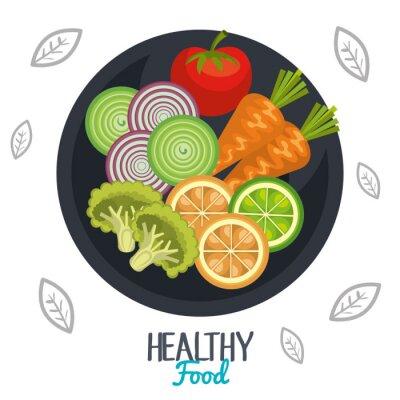 Fototapete Gesunde Ernährung Design
