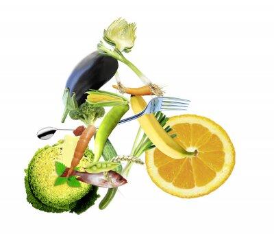 Fototapete Gesunde ernährung und sport